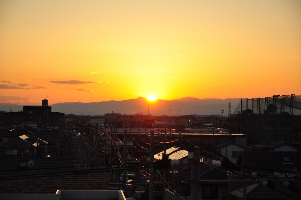 2015年12月22日 冬至の日没 埼玉県上尾市DSC_4702