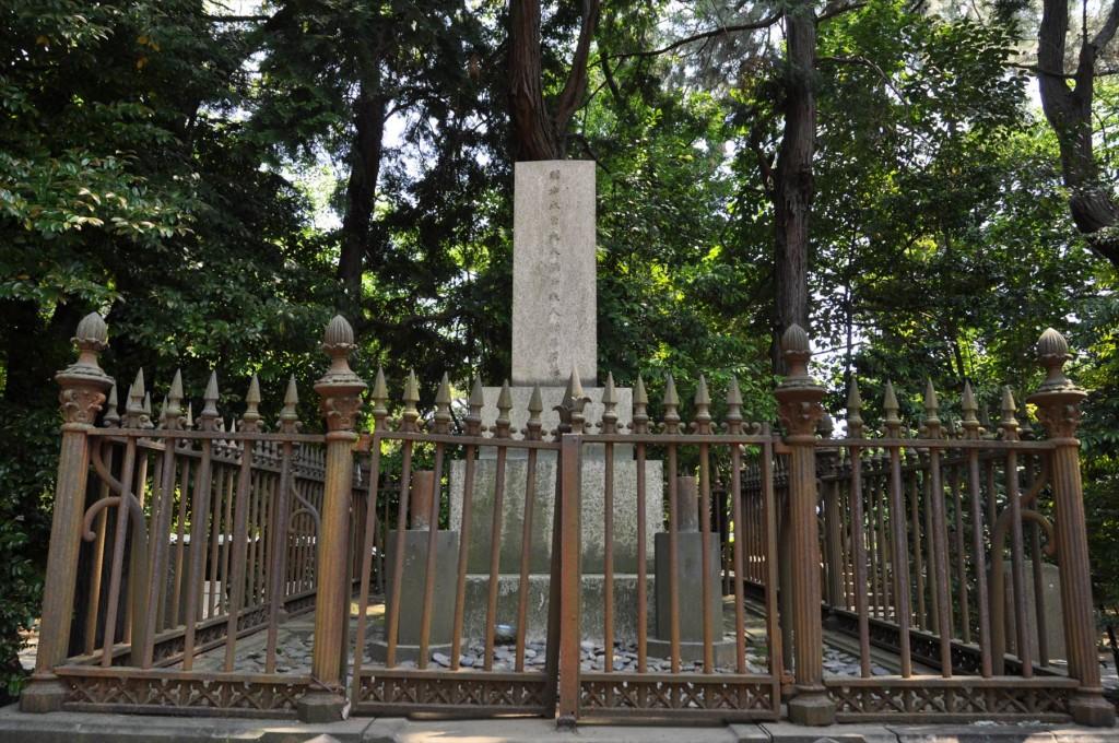 著名人有名人の墓 青山霊園 大久保利通の墓 夫人松子君之墓DSC_0870