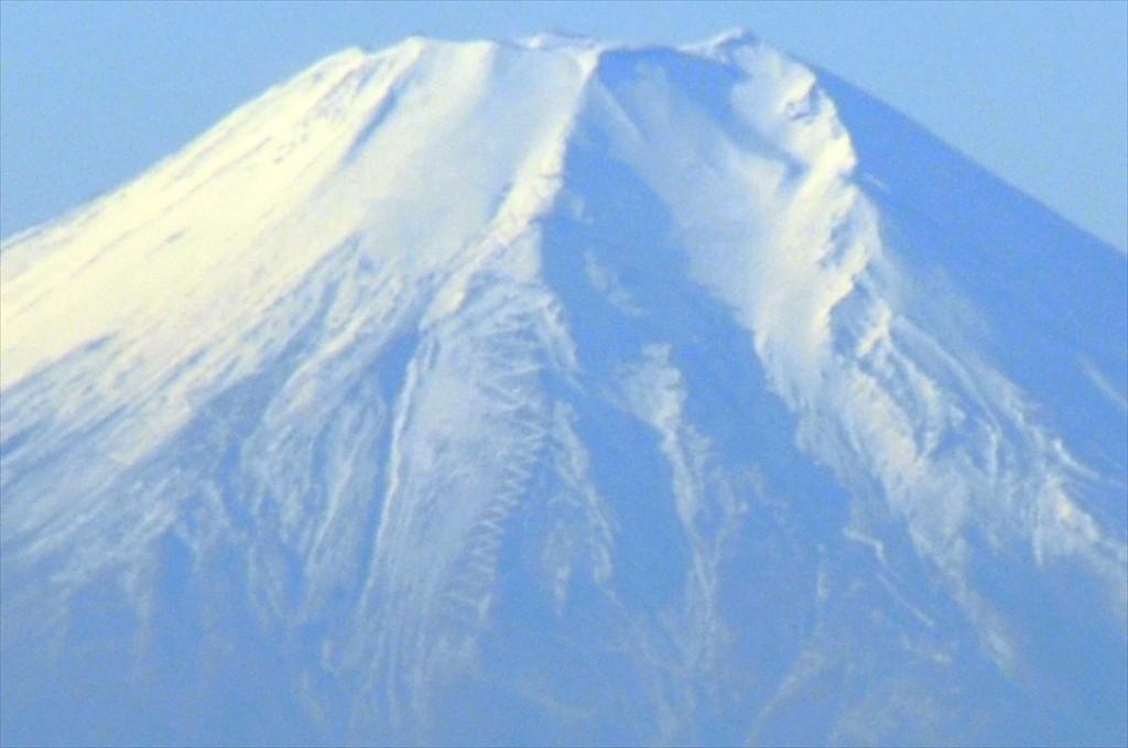 2015年12月22日 冬至の富士山 埼玉県上尾市から見える 朝8時30分撮影DSC_4649+--+-