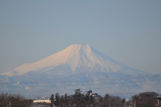 2016年2月7日 埼玉県上尾市の石材店 大塚 雪模様、雪化粧、雪景色DSC_4845- 富士山