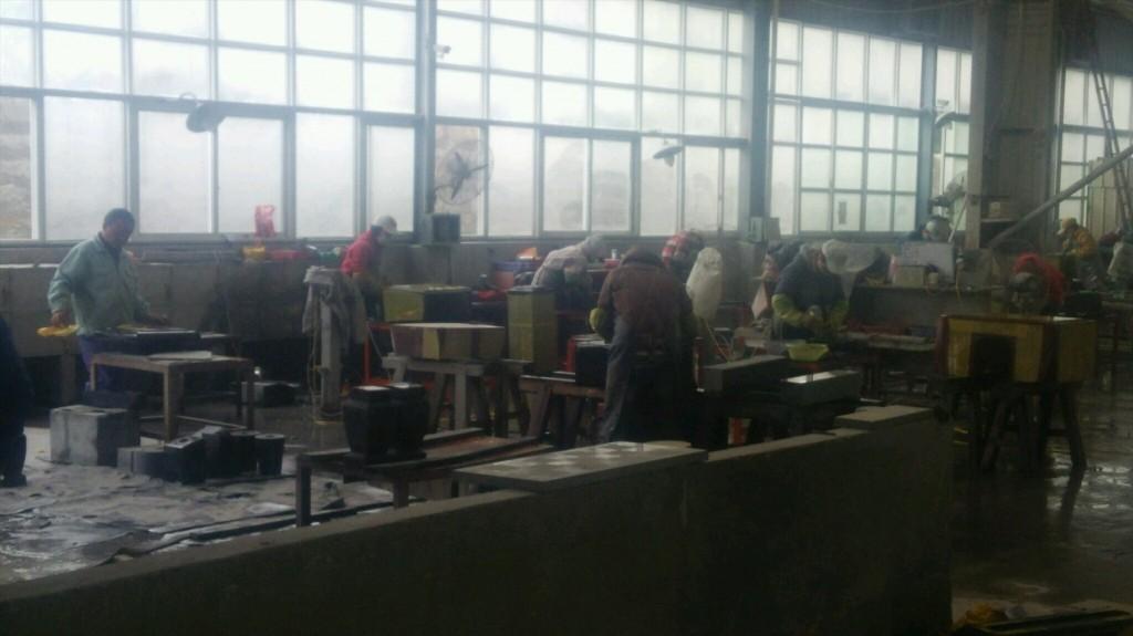 2016年2月 中国の厦門(シャオメイ)へ行ってきました!DSC_5190 石材加工工場内部の様子