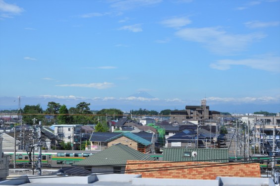 2016年6月17日 埼玉県上尾市から見える富士山 霊園 石材店 彫刻 墓石DSC_7660-
