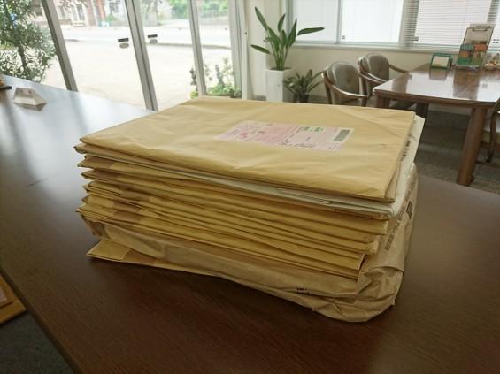 墓石・霊園販売・ご案内の折込チラシがたくさん届きましたDSC_3201