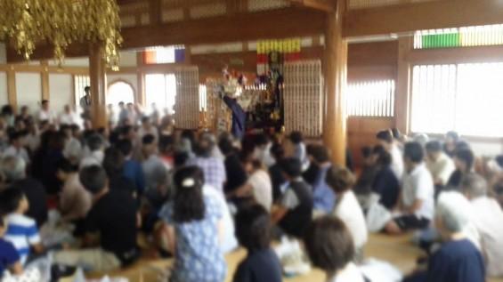 2016年8月 久喜清久霊園の経営母体、東明寺の施餓鬼供養2016081610110001