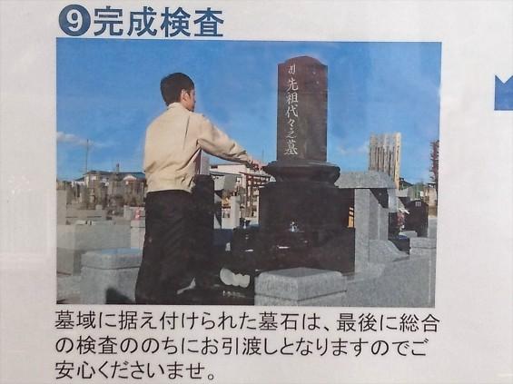 埼玉県上尾市 石材店の中庭 展示場 お墓ができるまで 看板9 17-03-30-14-57-45-388_photo
