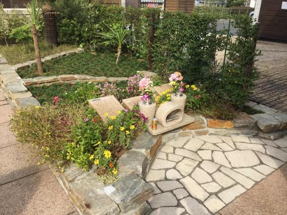 201611 埼玉県の霊園 鴻巣霊園 植栽とお花の植え替えIMG_0060