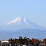 一年を通して富士山の変化を見る(埼玉県上尾市から)12月 012