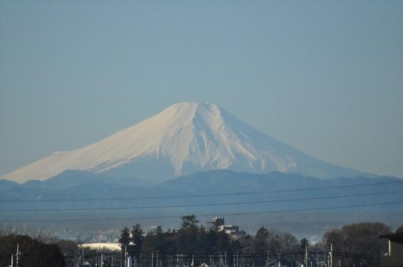 一年を通して富士山の変化を見る(埼玉県上尾市から)1月 001