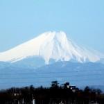 一年を通して富士山の変化を見る(埼玉県上尾市から)3月 003
