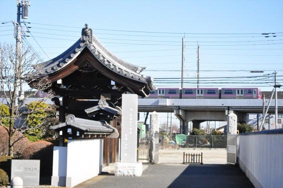 埼玉県伊奈町の寺院 松福寺 しょうふくじDSC_0137  ニューシャトル 通過