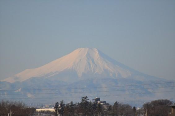 一年を通して富士山の変化を見る(埼玉県上尾市から)2月 002