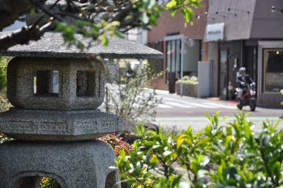 2017年4月14日 上尾市仏教会顧問会総会 今年の会場は遍照院でした 境内の様子 灯籠 DSC_1578