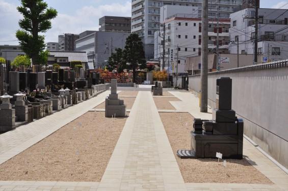 2017年4月埼玉県上尾市の寺院 遍照院墓苑の新区画 見本墓石 サンプル墓石 展示 和型 洋型DSC_2330
