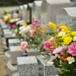 お墓参りの供花 仏花 彼岸 桶川霊園DSC_3876